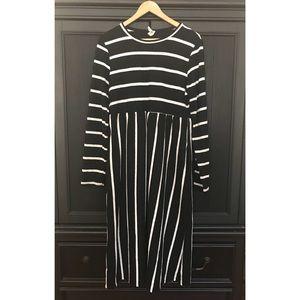 Bellamie Long Sleeve Midi Sweater Dress